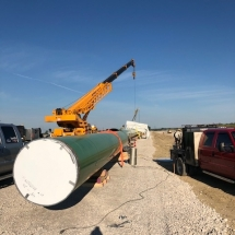 AST2 5 48 INCH PIPE TWO CRANES